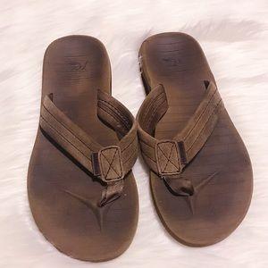 Quicksilver Boys Brown Suede Strap Sandals SZ 5/6